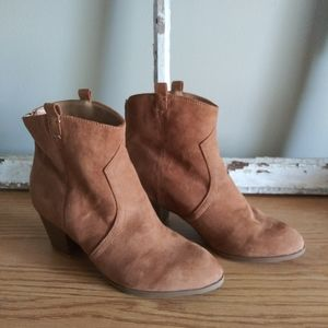 New Directions Block Heel Ankle Boots
